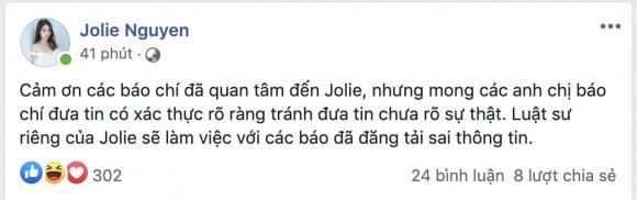Hoa hậu con nhà giàu Jolie Nguyễn trở lại mạng xã hội, tuyên bố kiện người vu khống cô dính đường dây mại dâm
