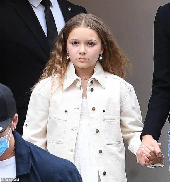 harper seven, con gái david beckham, tóc xoăn, già chát, sao hollywood