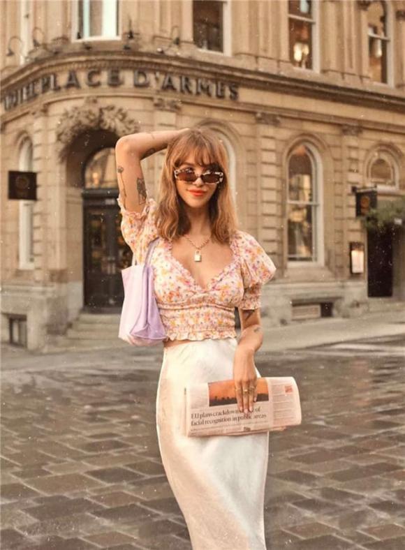 cổ áo vuông, thời trang hè, xu hướng thời trang