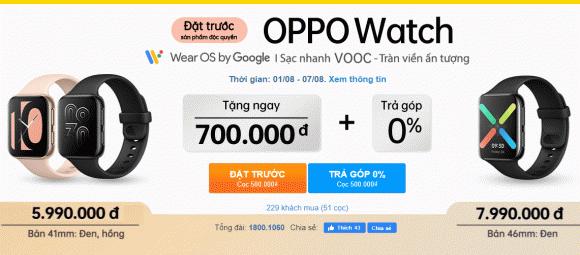OPPO Watch, Thế Giới Di Động