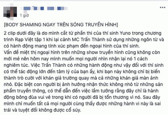 MC Trấn Thành, rap Việt, sao Việt