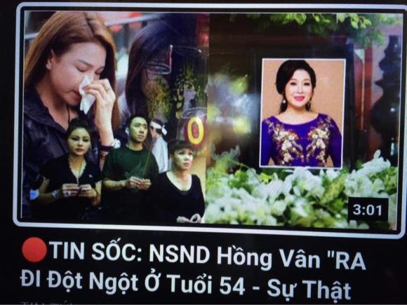 Bị đồn bệnh nặng qua đời, NSND Hồng Vân 'dở khóc dở cười' đăng đính chính
