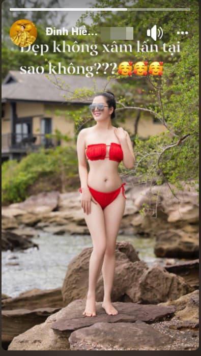 Ca sĩ Đinh Hiền Anh gây chú ý với loạt ảnh diện bikini bốc lửa bất chấp tuổi 42