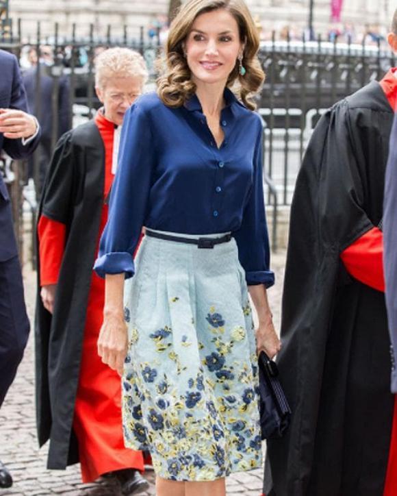 thời trang thu 2020, chọn váy mùa thu, hoàng hậu tây ban nha