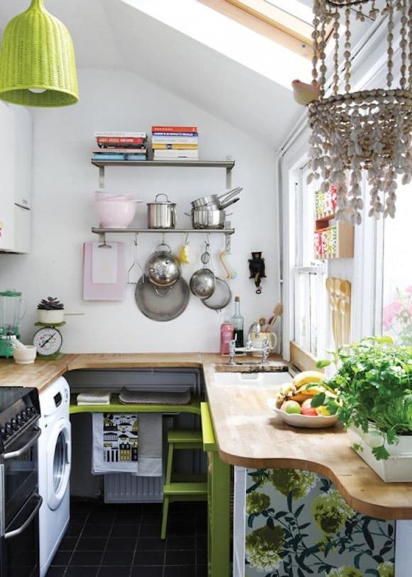 bếp nhỏ, thiết kế căn bếp, thiết kế phòng bếp