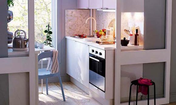 phòng bếp, tiết kiệm không gian phòng bếp, thiết kế nội thất