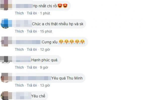 Ca sĩ Thu Minh phát 'cẩu lương'; dân tình xuýt xoa vì tình cảm vợ chồng mặn nồng