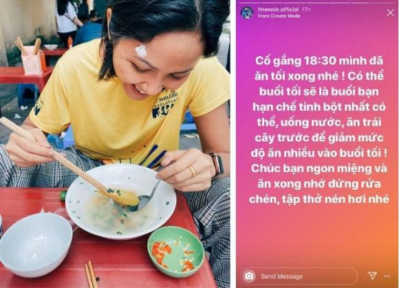 Hoa hậu H'Hen Niê gợi ý thực đơn sau khi rời phòng tập
