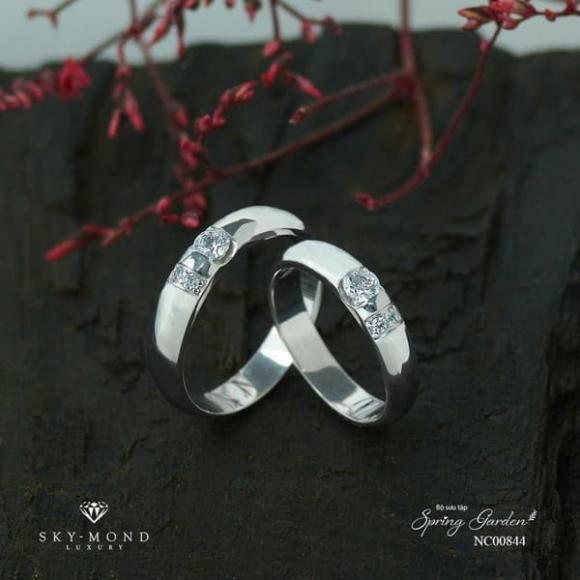 Nhẫn cưới Platin, Skymond Luxury, Nhẫn cưới đẹp