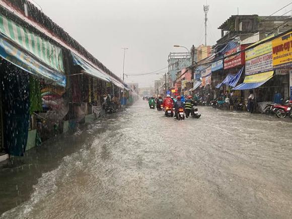 mưa lớn, Thủ Đức, TP.HCM, ngập lụt