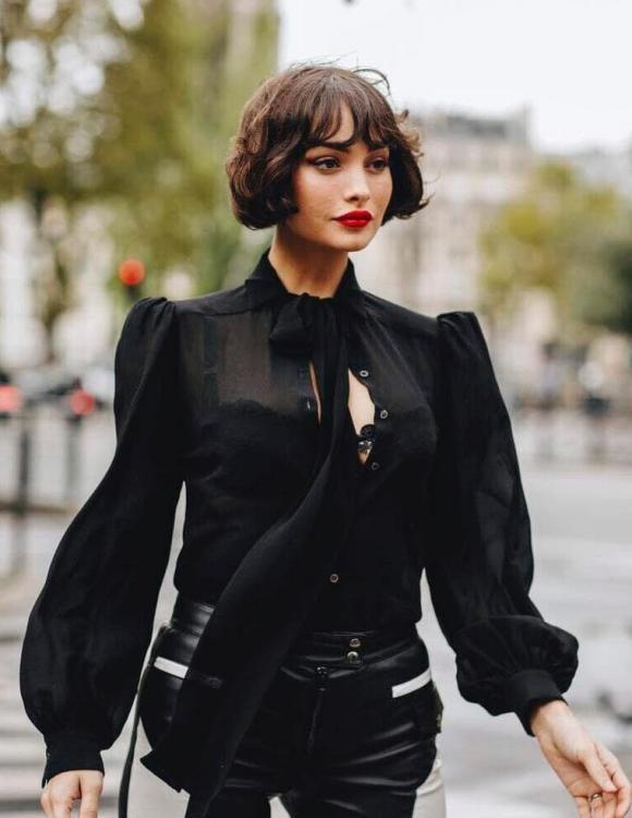sơ mi đen, thời trang, xu hướng thời trang