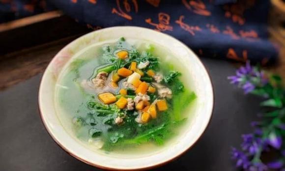 dạy nấu ăn, cải cúc, canh cải cúc, canh mùa thu