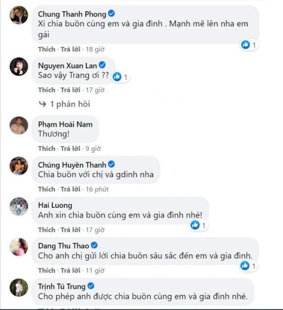 Cao Thiên Trang, ba Cao Thiên Trang qua đời, sao Việt