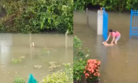 Xe khách bị lũ cuốn, quảng bình, lũ lụt
