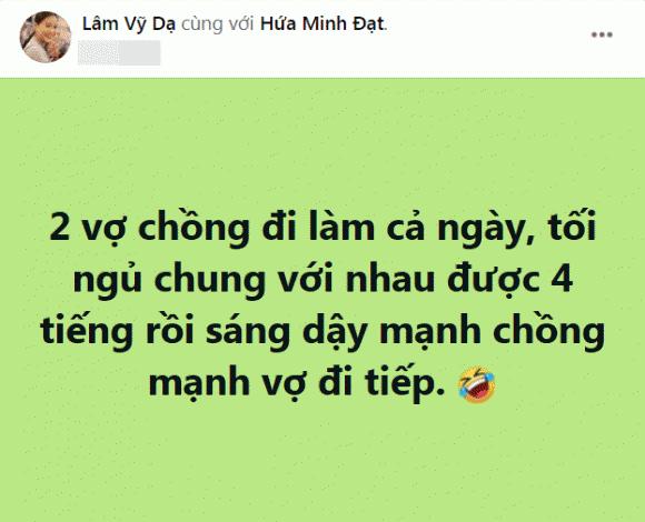 Than thở chỉ được ngủ với chồng 4 tiếng mỗi ngày, Lâm Vỹ Dạ bị hội bạn 'cà khịa'