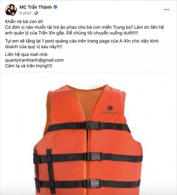 sao Việt, Thủy tiên, Trấn Thành, Từ thiện