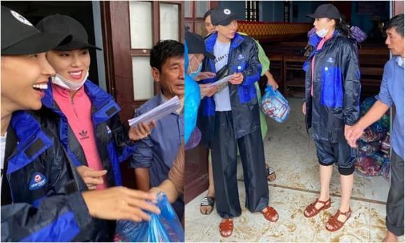 Kỳ Duyên, Minh Triệu, sao Việt cứu trợ miền Trung