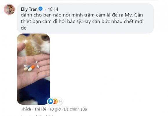 Elly Trần, sao Việt, Elly Trần trầm cảm