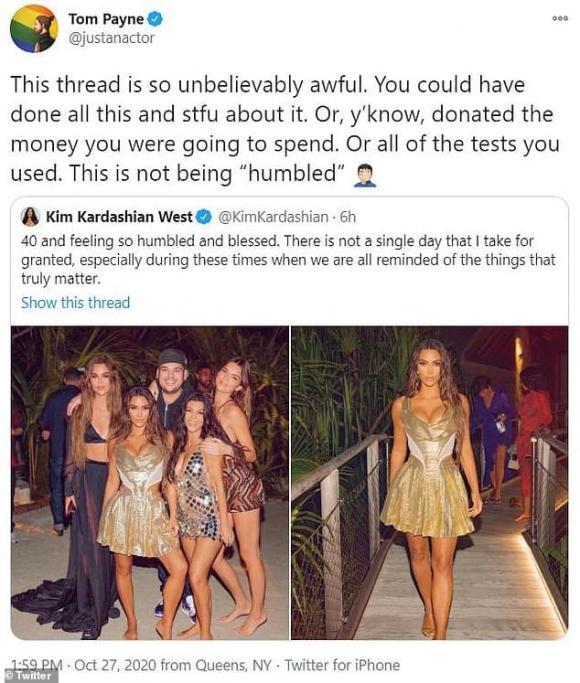kim kardashian, sinh nhật 40 tuổi kim kardashian, kim kardashian bị ném đá