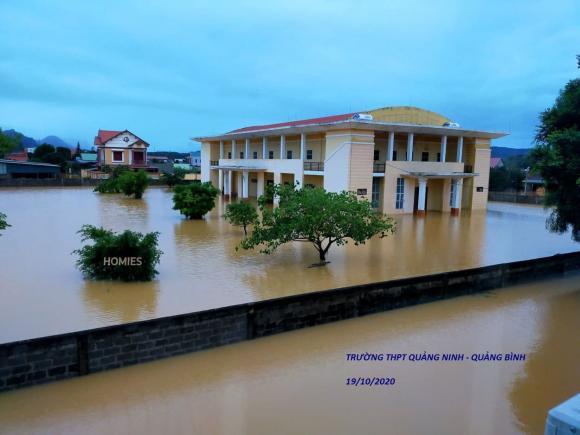 thầy hiệu trưởng, mưa lũ ở Quảng Bình, bão lũ miền Trung