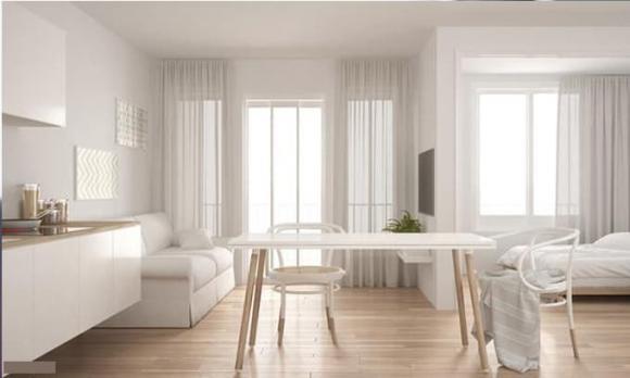 mở rộng không gian, nội thất, nhà 60m
