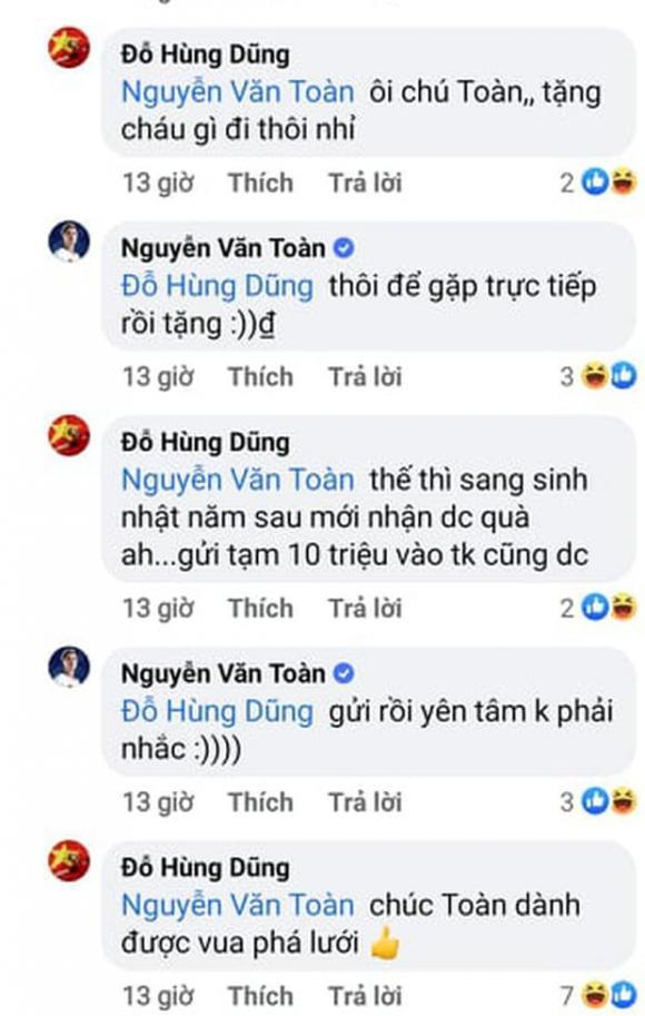 Hùng Dũng, Văn Toàn, cầu thủ Việt