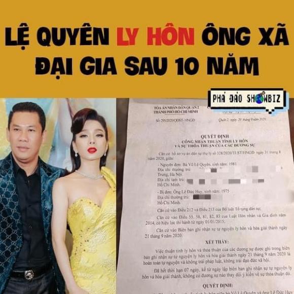 ca sĩ Lệ Quyên, sao Việt
