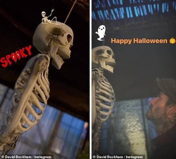 harper seven, david beckham, lễ hội halloween