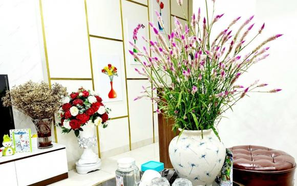 hoa mào gà trắng, chụp ảnh với hoa mào gà trắng, giới trẻ