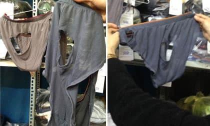 quần lót rách, đàn ông mặc quần rách, quần sịp