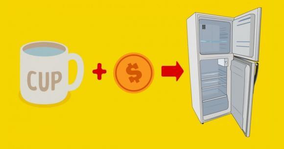 tủ lạnh, để đồng xu trong tủ đông, kiến thức