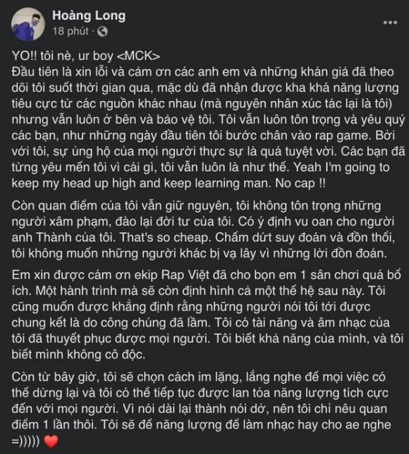 MCK Rap Việt, Karik, Rap Việt