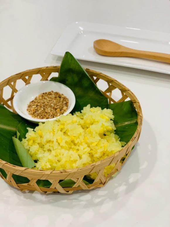 Hoa hậu Ngọc Hân, cách làm xôi đỗ, công thức nấu xôi đỗ xanh