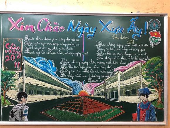 báo tường, ngày 20/11, ngày nhà giáo Việt Nam, báo bảng, Thanh Hoá