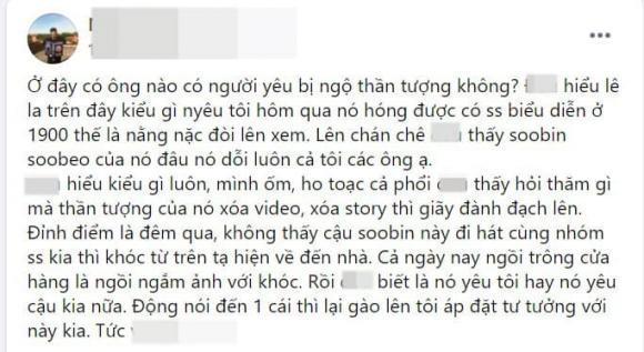 Không thấy Soobin Hoàng Sơn đi hát, cô gái khóc từ Tạ Hiện về đến nhà rồi dỗi luôn người yêu
