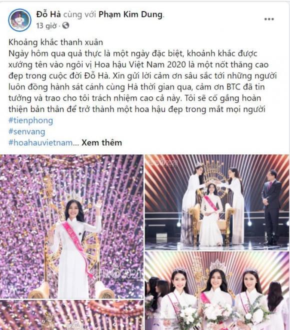 Hoa hậu Việt Nam 2020, Đỗ Thị Hà, faceboook Đỗ Thị Hà