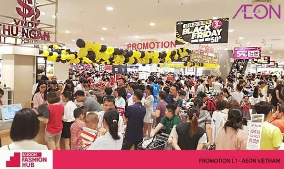 Saigon Fashion Hub, Black Friday 2020, TTTM Aeon Việt Nam, Black Shopping Week