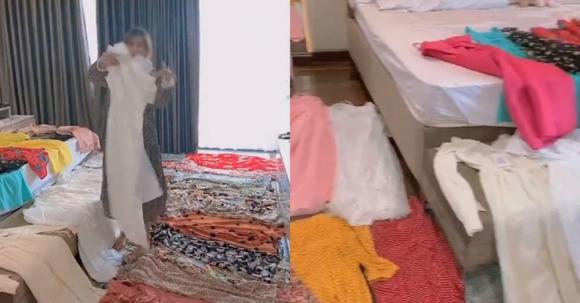 chồng tặng váy cho vợ, tặng quà cho vợ, quà tặng