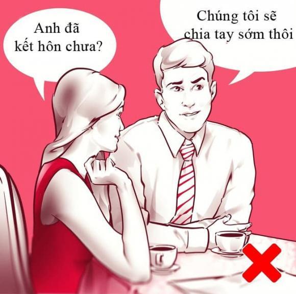 hẹn hò, lần đầu hẹn hò, lưu ý trong lần đầu hẹn hò