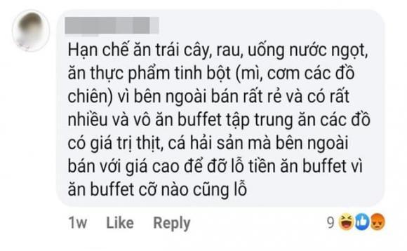 ăn buffet không lỗ, ăn buffet,