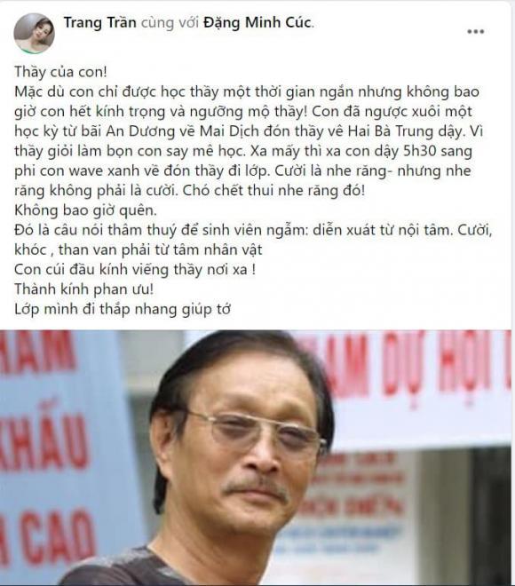 Trang Trần, NSND Ngô Xuân Huyền, NSND Ngô Xuân Huyền qua đời