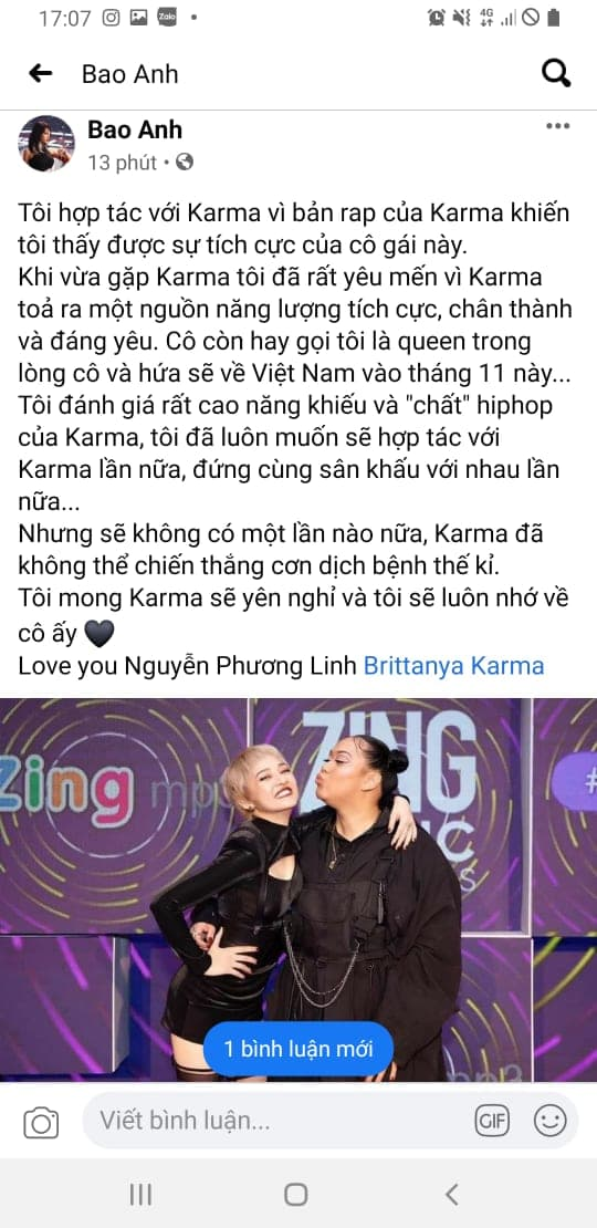 Vlogger-Rapper Brittanya Karma,Brittanya Karma qua đời