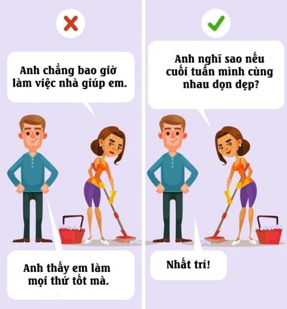 gia đình, câu gì không nên nói với chồng, câu nói phá hoại hạnh phúc