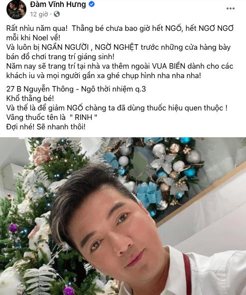 Mr Đàm tung hình 'Rinh' đồ trang trí Noel