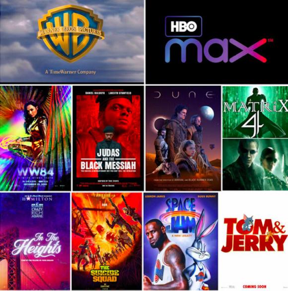 phim bom tấn, Warner Bros., chiếu trực tuyến, HBO, ứng dụng xem phim trực tuyến, dịch bệnh Covid, rạp chiếu, phim chiếu rạp, khán giả,