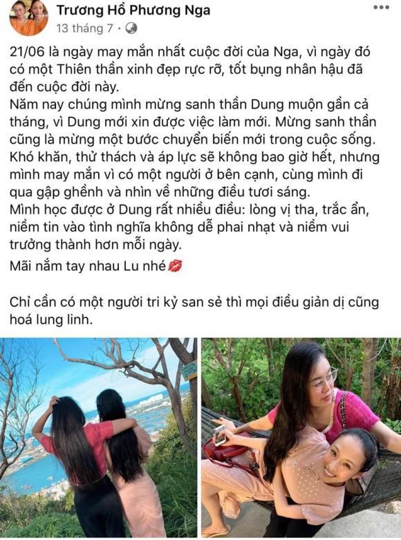 Trương Hồ Phương Nga, Thuỳ Dung, bạn thân, tình bạn, gian khó, kỉ niệm