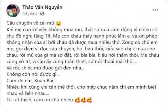 con trai MC Thảo Vân, Nghệ sĩ Xuân Bắc, MC Xuân Bắc, sao Việt