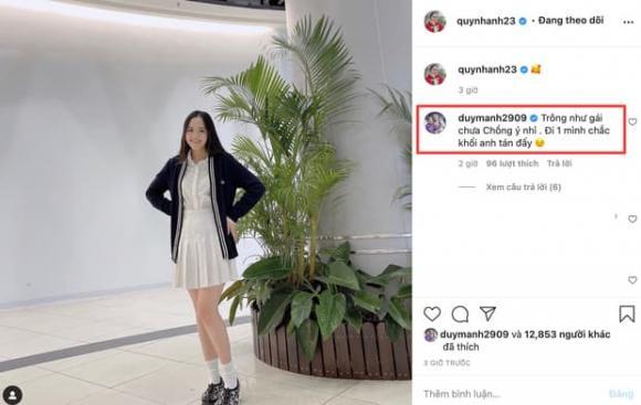 Diện đồ theo phong cách nữ sinh, Quỳnh Anh được Duy Mạnh khen 'trông như gái chưa chồng'