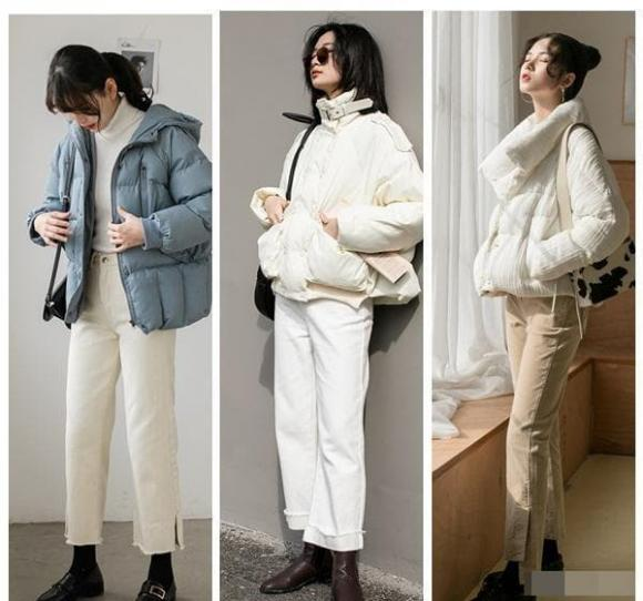 Các cô gái có chiều cao dưới 1m50 nên mặc 'áo khoác + quần dài' này vào mùa đông để giữ ấm và giúp cao hơn