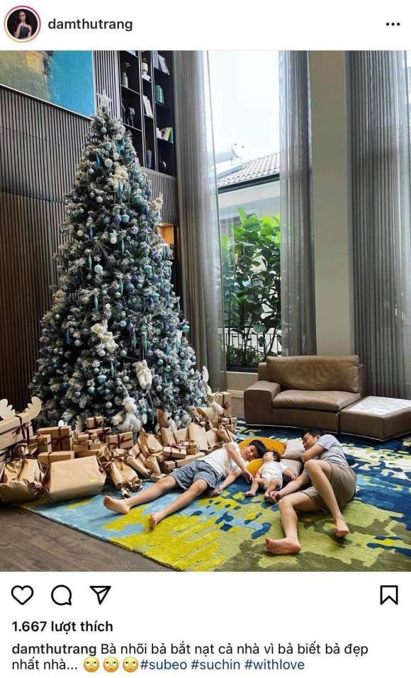 Đàm Thu Trang, Cường Đô La, sao Việt, Giáng sinh, món quà đặc biệt